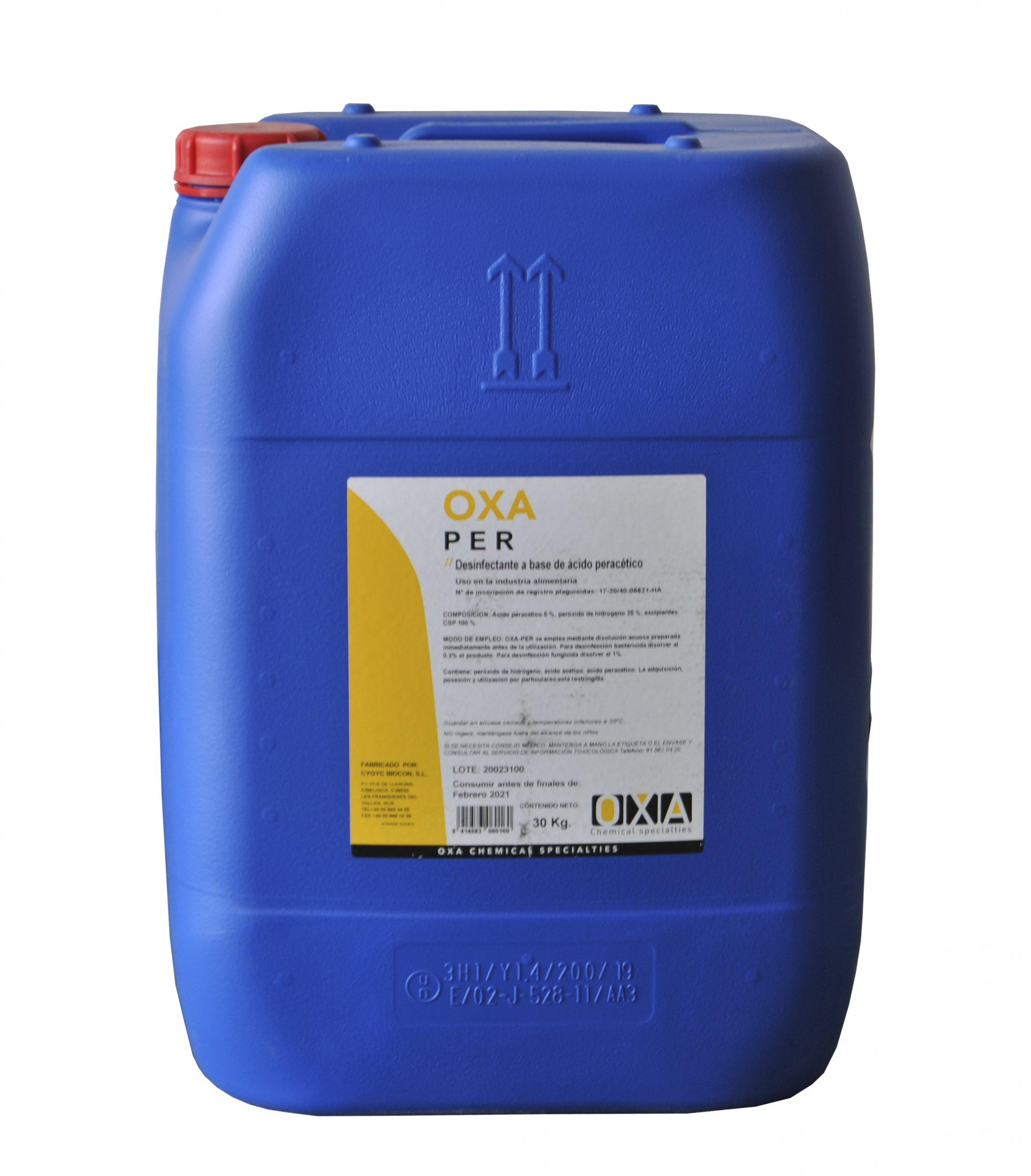 Desinfectante a base de ácido peracetico y peróxido de hidrógeno Rotor Levante